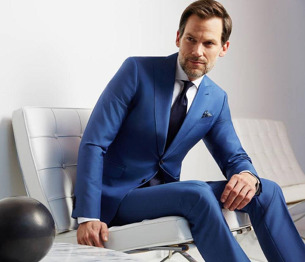 نتيجة بحث الصور عن البدلة الزرقاء دليلك للأناقة