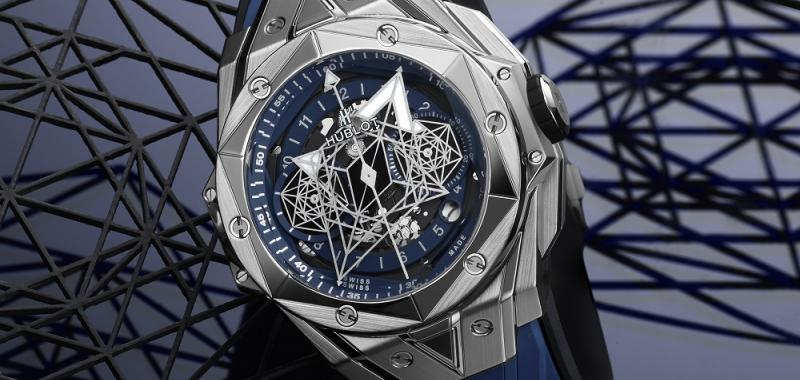 "- ""بيغ بانغ  سان بلو"" Big Bang Sang Bleu II من هوبلو Hublot"