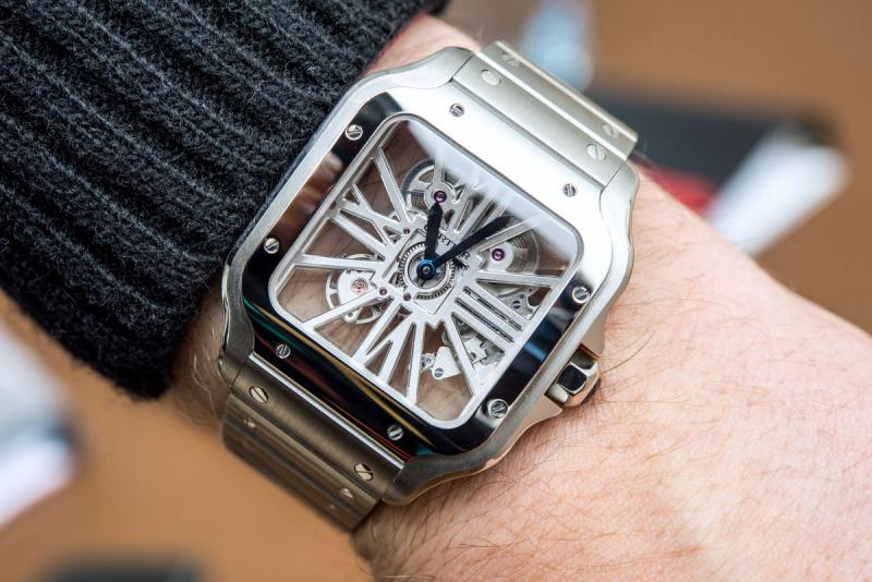 Cartier Santos Skeleton