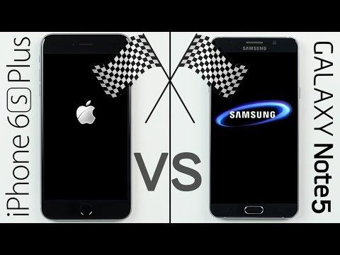 iPhone 6S Plus vs. Galaxy Note 5 Speed Test