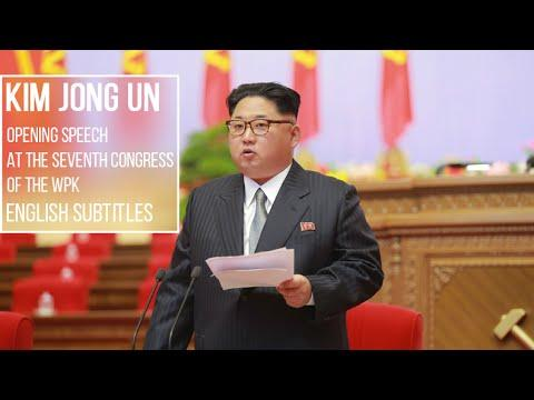 [English] Kim Jong Un's Opening Speech at the Seventh Congress of the WPK