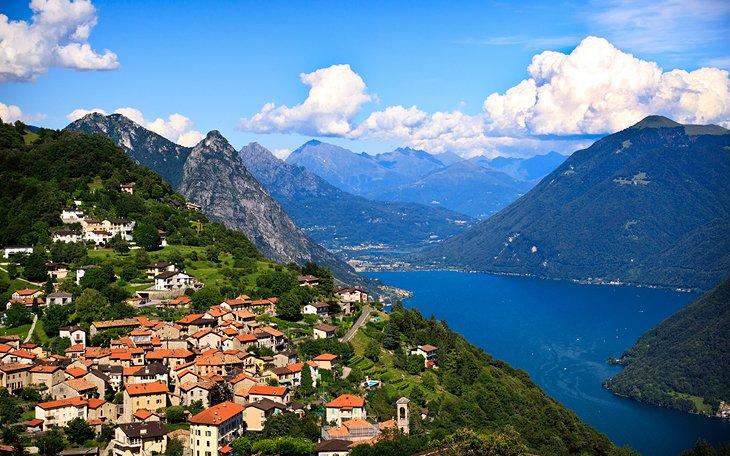 السياحة في سويسرا: بحيرة لوغانو وتيسينو